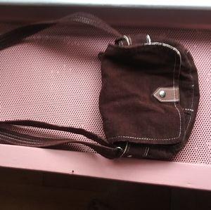 Small Brown corduroy purse